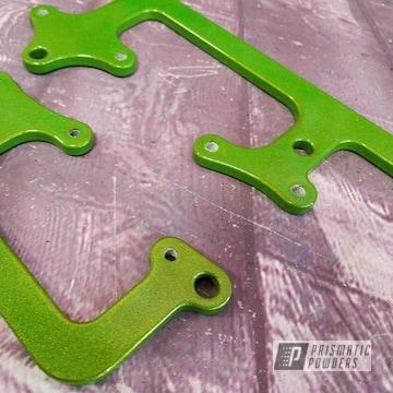Powder Coated Green Automotive Brackets