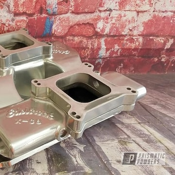 Powder Coated Chrome Edelbrock Intake Manifold
