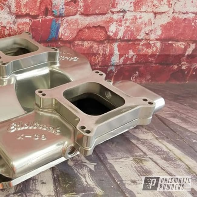 Powder Coating: Intake Manifold,Automotive,Edelbrock,Clear Vision PPS-2974,SUPER CHROME USS-4482,Edelbrock Intake,Automotive Parts