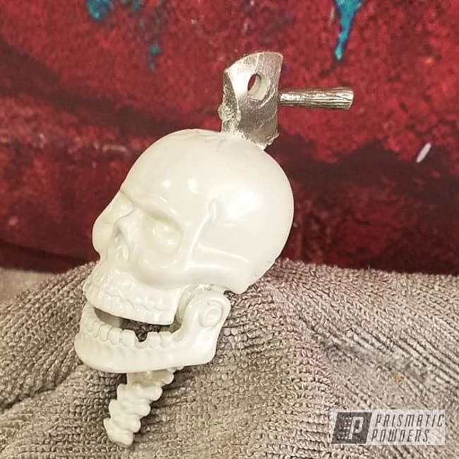 Powder Coating: Motorcycle Parts,Skull,Diamond Pearl PMB-1857,Miscellaneous