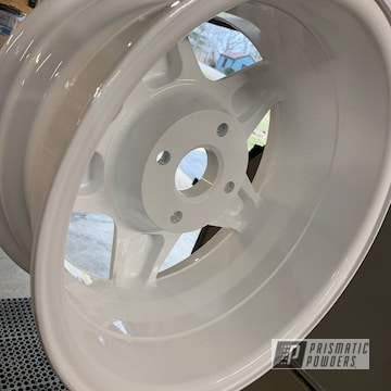 Powder Coated White Custom Wheels