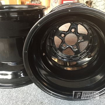 Powder Coated Black Truck Rims