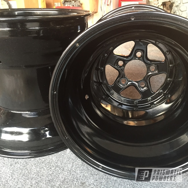 Powder Coating: Wheels,Automotive,Rims,GLOSS BLACK USS-2603