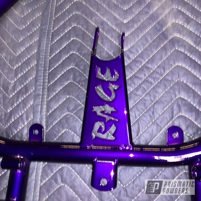 Powder Coating: Illusion Purple PSB-4629,Clear Vision PPS-2974,Powder Coated Frame,Powder Coated Go Kart Frame