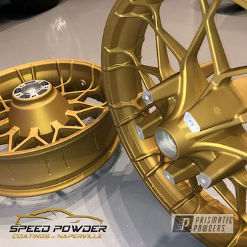 Powder Coated Gold Custom Harley Davidson Rims