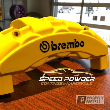 Powder Coated Yellow Bmw Brembo Brake Calipers