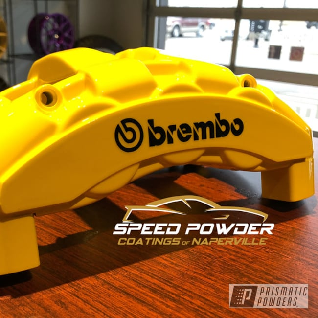 Powder Coated Yellow Bmw Brembo Brake Calipers