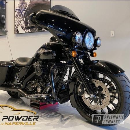 Powder Coating: Automotive,Harley Davidson Parts,Harley Davidson,Ink Black PSS-0106,Motorcycles
