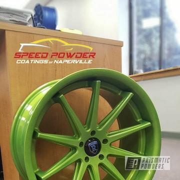 Powder Coated Green Custom Wheels