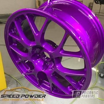 Powder Coated Violet Custom Wheel