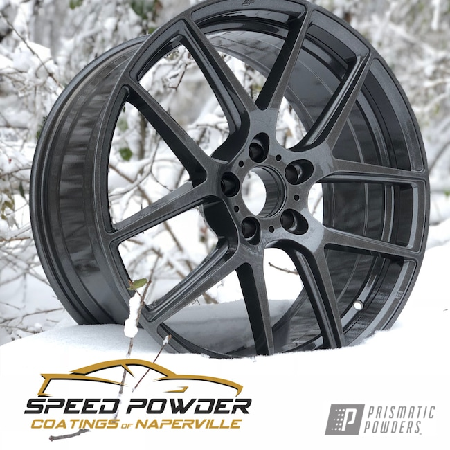 Powder Coating: Wheels,Automotive,Clear Vision PPS-2974,Rims,Kingsport Grey PMB-5027