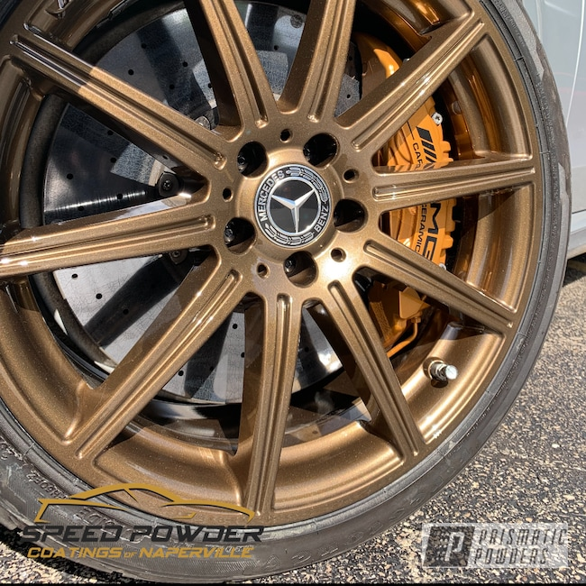 Powder Coating: Wheels,Automotive,Clear Vision PPS-2974,Mercedes,Bronze Chrome PMB-4124