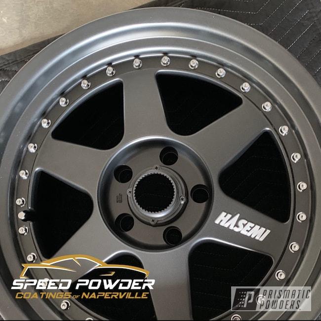 Powder Coating: Wheels,Automotive,Evo Grey PMB-5969,2 Piece Wheels,SSR Hasemi
