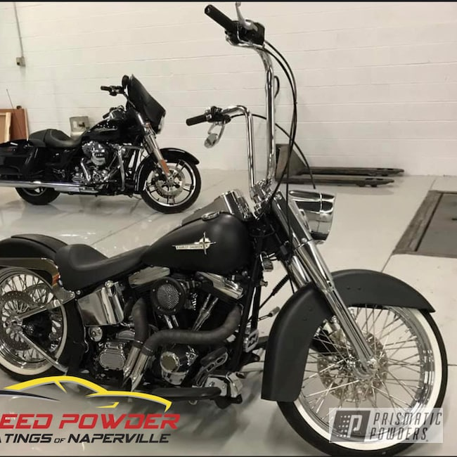 Powder Coating: Automotive,Harley Davidson,Motorcycle Parts,Motorcycles,Silk Satin Black HSS-1336