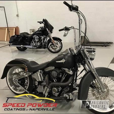Powder Coating: Automotive,Harley Davidson,Motorcycle Parts,Motorcycles,Silk Satin Black HSS-1336
