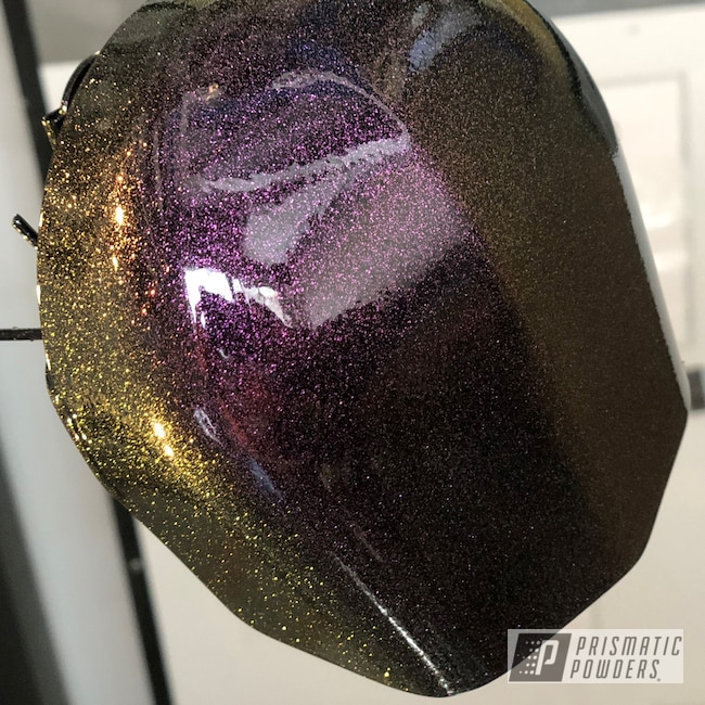 Powder Coating: Automotive,Harley Davidson,Horn and Starter Cover,Ink Black PSS-0106,Custom Motorcycle,Motorcycles,Chameleon Cherry PPB-5735