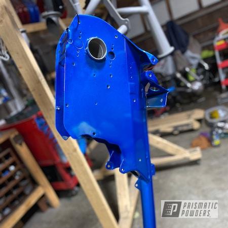 Powder Coating: Booty Blue PPB-2757,Automotive,ATV,ATC70,Acura Silver PMB-6558,Honda,144