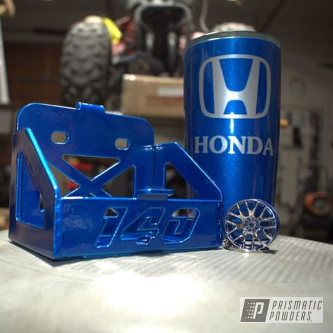 Powder Coated Blue Honda Atc70 Parts