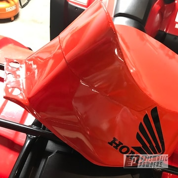 Powder Coated Red Honda Motorcycle Tank