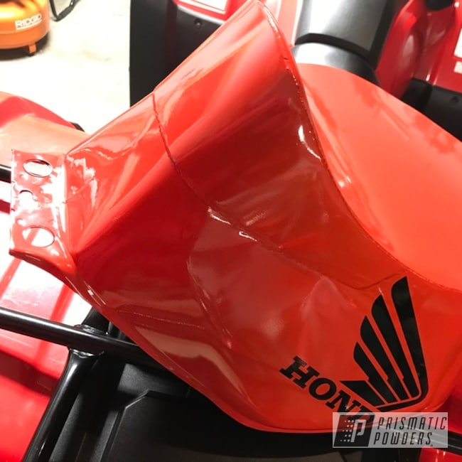 Powder Coating: Automotive,Fuel Tank,Flame Red PSS-5082,Honda Motorcycle,Honda,Motorcycles