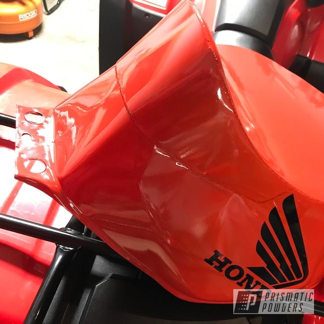 Powder Coating: Automotive,Fuel Tank,Flame Red PSS-5082,Honda Motorcycle,Honda,Motorcycles
