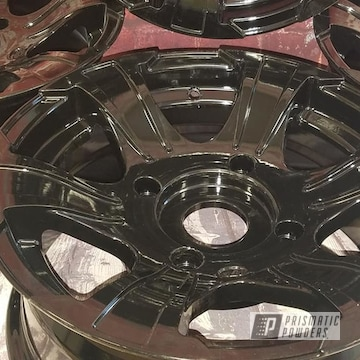 Powder Coated Black Aluminum Atv Wheels