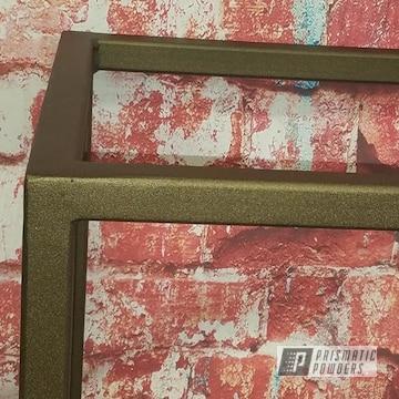 Powder Coated Bronze Table Base Frame