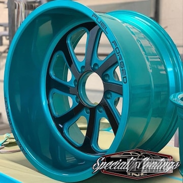 Powder Coated Teal Fuel Forged 20 Inch Rims