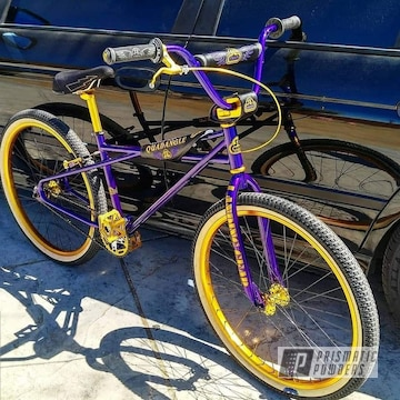 Powder Coated Purple Custom Bicycle Frame