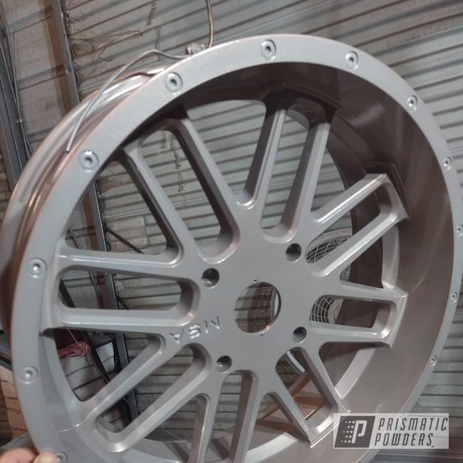 Powder Coating: Wheels,Automotive,BRONZE TITANIUM UMB-0728,Pearl Sparkle PMB-4130