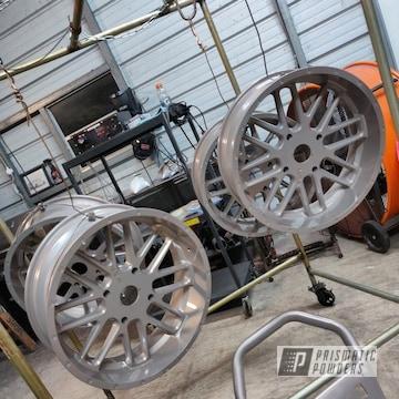 Powder Coated Silver Custom Wheels