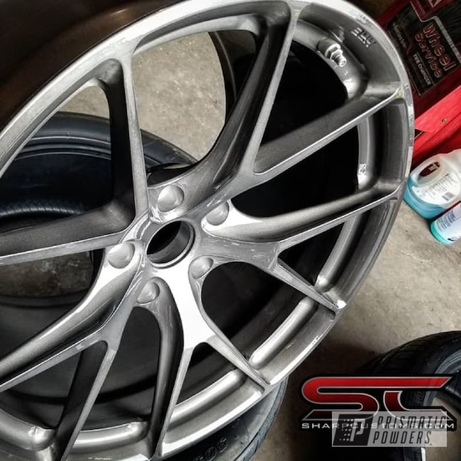 Powder Coating: Wheels,Black Chrome II PPB-4623,Automotive