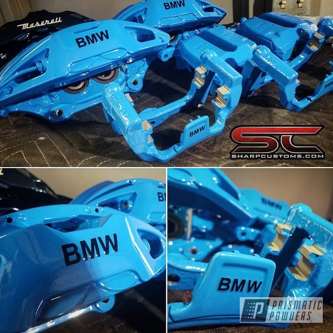Powder Coating: Automotive,BMW,Brake Calipers,Playboy Blue PSS-1715