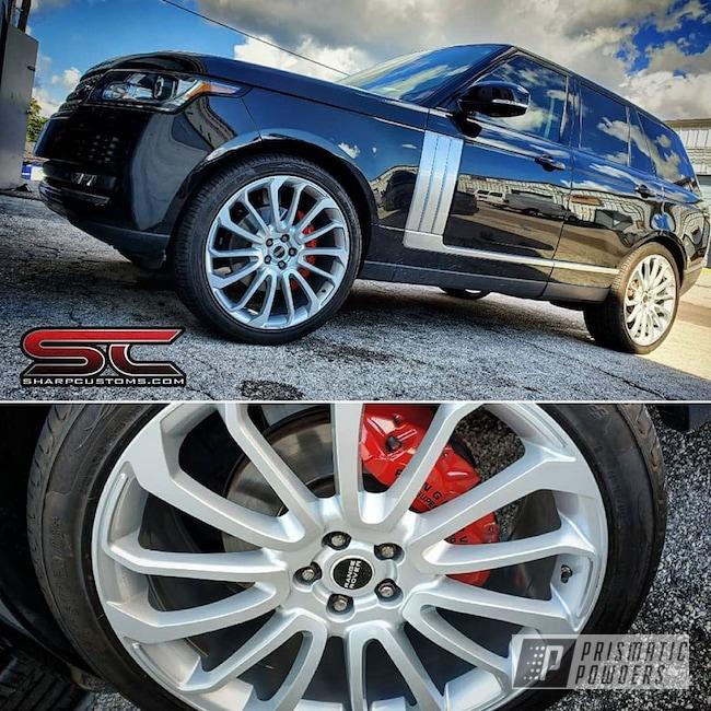 Powder Coating: Wheels,BMW Silver PMB-6525,Automotive,Range Rover