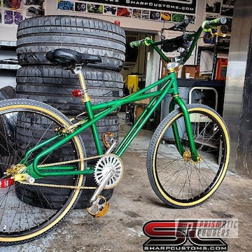 Powder Coated Green Custom Bicycle Frame