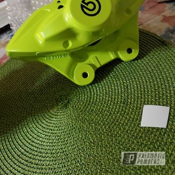 Powder Coated Neon Yellow Custom Brake Caliper