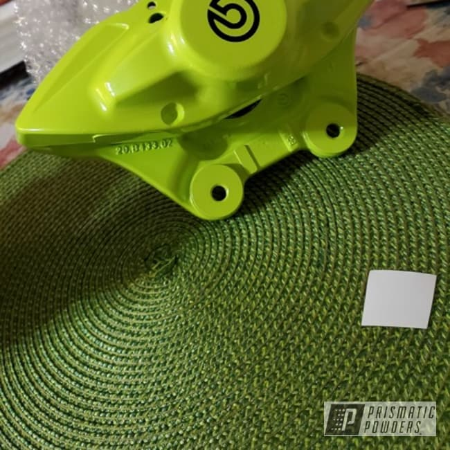 Powder Coating: Chartreuse Sherbert PSS-7068,Custom Brake Caliper,Brake Calipers