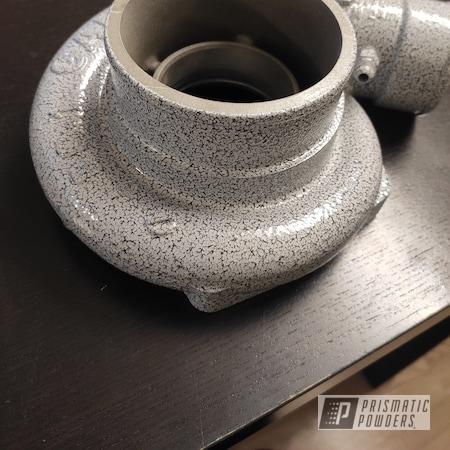 Powder Coating: Grey/Black Vein PVS-4775,Automotive,Engine,Car,Turbo