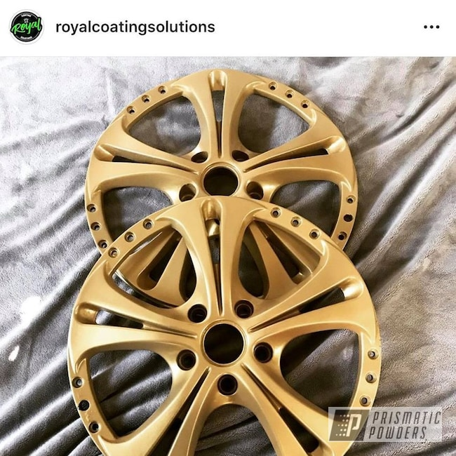 Powder Coating: Wheels,Goldtastic PMB-6625,Automotive,Custom Rims,Rims