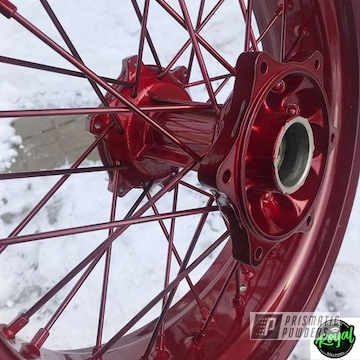 Powder Coated Red Harley Davidson Wheel