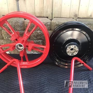 Powder Coated Motorcycle Wheels And Handlebars