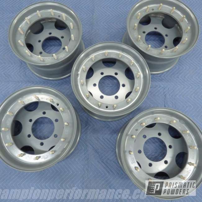 "Powder Coating: Flat Harbor Grey PSB-8053,Wheels,Automotive,16"" Wheels"