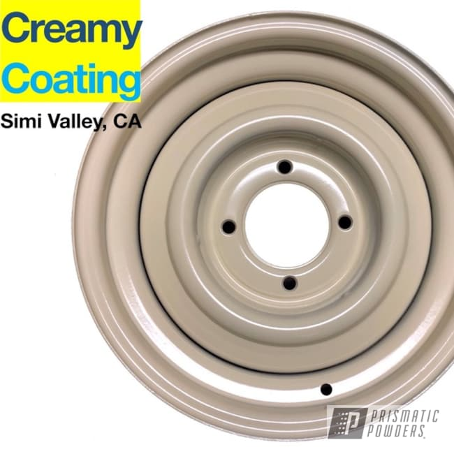 Powder Coated Cream White 16 Inch Vw Beetle Rims