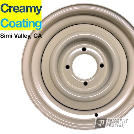 "Powder Coating: Wheels,Automotive,16"" Wheels,VW Beetle,Volkswagen,Powder Coated Beetle Wheels,Beetle,VW Bug,VW,Powder Coated Volkswagon Wheels,Powder Coated Volkswagon Wheel,RAL 1015 Light Ivory"
