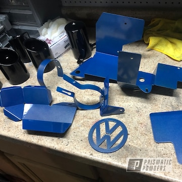 Powder Coated Blue Assorted Vw Parts