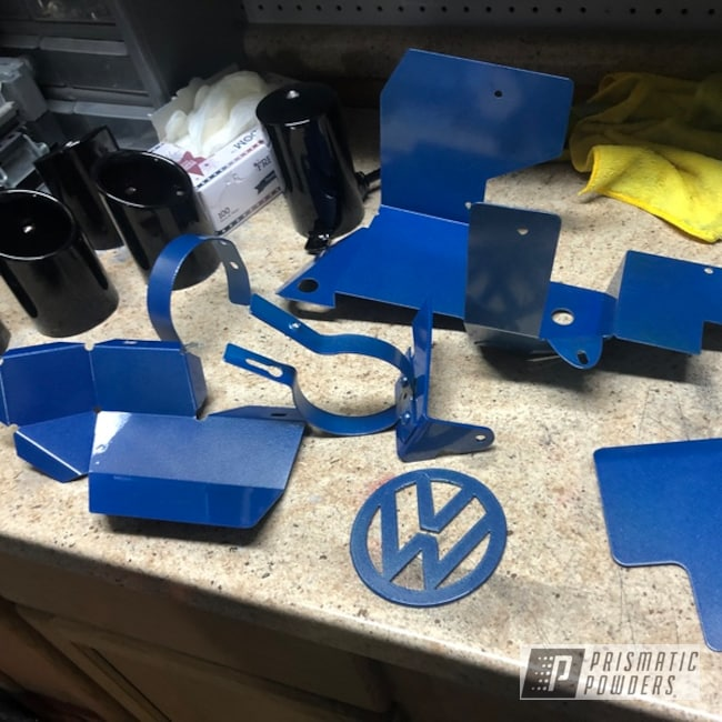 Powder Coating: Automotive,Clear Vision PPS-2974,Cosmic Blue PMB-1803,VW,Miscellaneous
