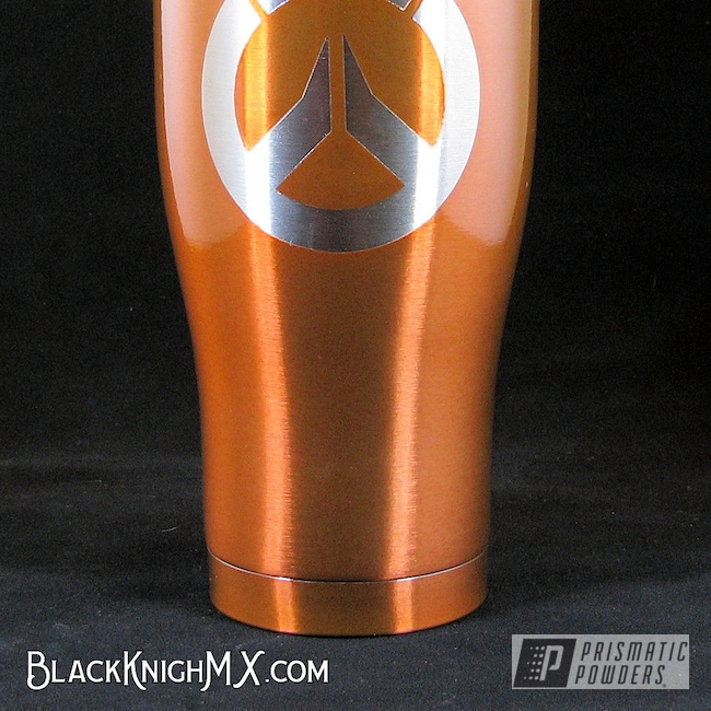 Powder Coating: Tumbler,Orange Sherbert PPB-8044,HOGG,Overwatch,powder coated,Custom Tumbler,Inspired