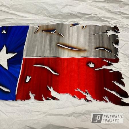 Powder Coating: American Flag,Texas Flag,PASTEL RED UPB-4579,Intense Blue PPB-4474,Metal Signs