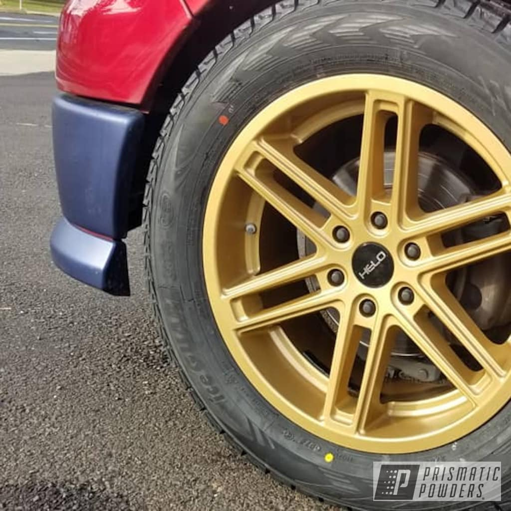 Custom Wheels coated with Soft Clear and Satin Poly Gold ...
