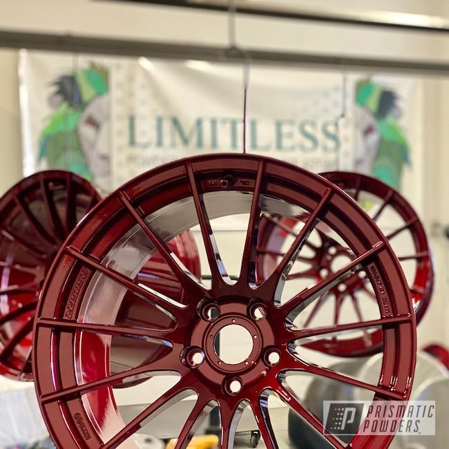 Powder Coating: Wheels,Automotive,Bing Cherry PSS-0645,Rims